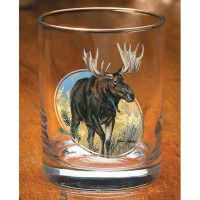 Scenic Moose Double Old Fashion Glasses (Set of 12)
