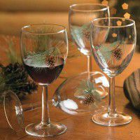 Pine Cone Wine Glasses - Set of 12