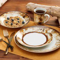 Hardwood Forest 16 Pcs Dinnerware