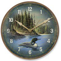 Loon Round Clock