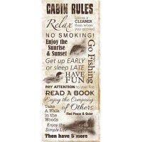 Cabin Rules Wrapped Canvas Art