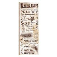 Hunting Rules Wrapped Canvas Art
