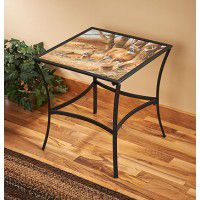Rustic Retreat Deer Accent Table