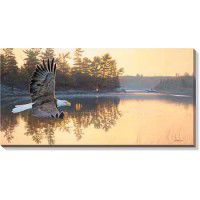 Gone Fishing –Bald Eagle Wrapped Canvas