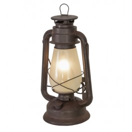 "12""H Miner's Lantern Table Lamp"