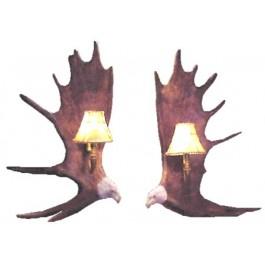 Moose Antler Eagle Sconces