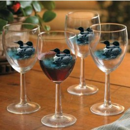 Summer Loon Wine Glasses (Set of 12) -Discontinued