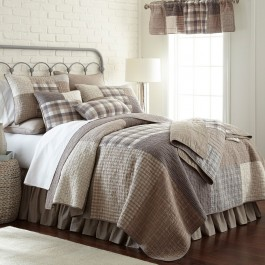 Smoky Square Quilted Bedding Collection