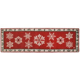 """Falling Flakes on Holly Wool Runner 30"""" x 8' -DISCONTINUED"""