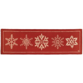 """Falling Flakes Hand-Hooked Wool Runner 30"""" x 8'"""