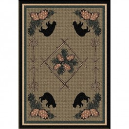 Pine Cone and Bear Area Rugs