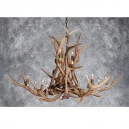 Aurora Borealis Elk Antler Chandeliers-3 Sizes Available