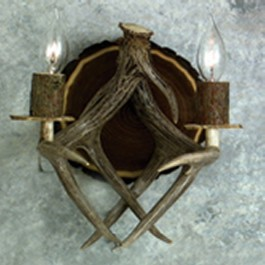 Whitetail Antler Sconce-Double