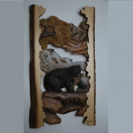 """""""The Catch"""" Original and Signed Carving 15 x 28"""