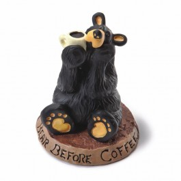 Coffee Bear Figurine