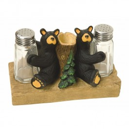 Bear Salt & Pepper with Toothpick Holder