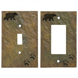 Bear & Tracks Switch Plates