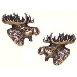 Antique Brass Moose Head Knobs