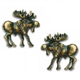 Antique Brass Walking Moose Cabinet Hardware