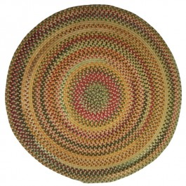 Round Bear Creek Braided Rug - Wheat -DISCONTINUED
