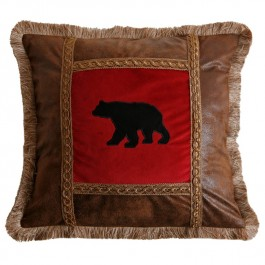 Applique Bear Pillow