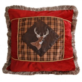 Plaid Buck Pillow -DISCONTINUED