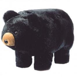 Plush Black Bear Footstool