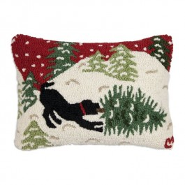 Dog and Tree Pillow