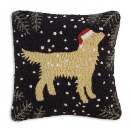 Golden Retriever Christmas Pillow - Discontinued