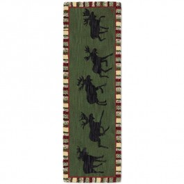 Argyle Green Moose Floor Runner