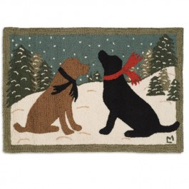 Evening Dogs Accent Rug
