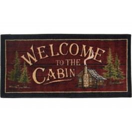 Welcome to the Cabin Rug 20 x 44