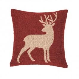 Russet Buck Hooked Pillow