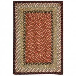 Burgundy/Mustard Braided Rectangle Rugs