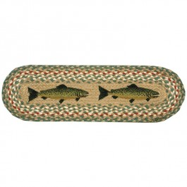 Braided Jute Trout Stair Treads