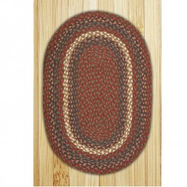 Burgundy/Gray Braided Rugs