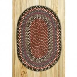 Burgundy/Blue/Gray Braided Rugs