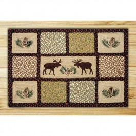 Quilt Patch Moose Jute Rug