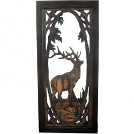 Elk Carved Screen Door