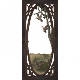 Duck & Fish Carved Screen Door