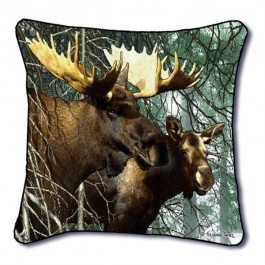 Forest King Moose Pillow