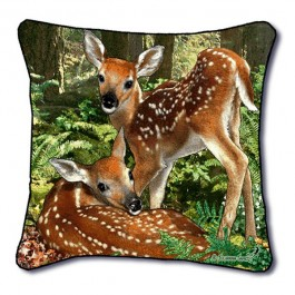 Deer Twins Pillow
