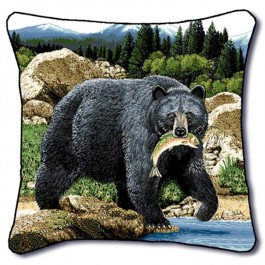 Catch of the Day Bear Pillow