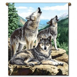 Grey Song Wolf Wall Hanging