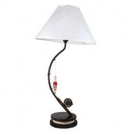 "22"" Fishing Pole Table Wood Lamp"