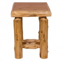 Open Log Nightstand
