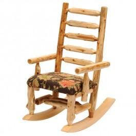 Upholstered Log Rocking Chair