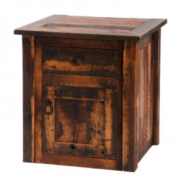 Barnwood Enclosed End Table with Barnwood Legs