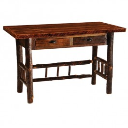 Barnwood Writing Desk with Hickory Legs