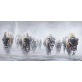 Giants in the Mist II Printed Canvas -Signed